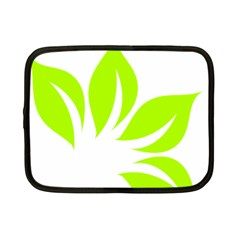Leaf Green White Netbook Case (small)  by Mariart