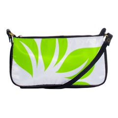 Leaf Green White Shoulder Clutch Bags by Mariart