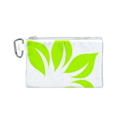 Leaf Green White Canvas Cosmetic Bag (s) by Mariart