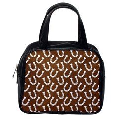 Horse Shoes Iron White Brown Classic Handbags (one Side) by Mariart