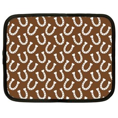 Horse Shoes Iron White Brown Netbook Case (xxl)  by Mariart