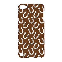 Horse Shoes Iron White Brown Apple Ipod Touch 5 Hardshell Case by Mariart