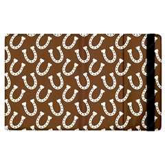 Horse Shoes Iron White Brown Apple Ipad 3/4 Flip Case by Mariart