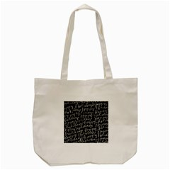 Happy Holidays Tote Bag (cream) by Mariart