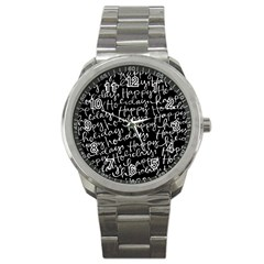 Happy Holidays Sport Metal Watch by Mariart