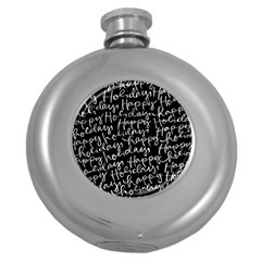 Happy Holidays Round Hip Flask (5 Oz) by Mariart