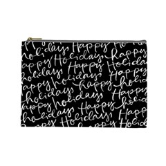 Happy Holidays Cosmetic Bag (large)  by Mariart