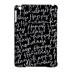 Happy Holidays Apple Ipad Mini Hardshell Case (compatible With Smart Cover) by Mariart