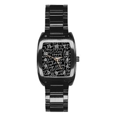 Happy Holidays Stainless Steel Barrel Watch by Mariart