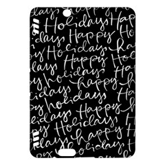 Happy Holidays Kindle Fire Hdx Hardshell Case by Mariart