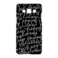 Happy Holidays Samsung Galaxy A5 Hardshell Case  by Mariart