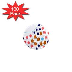 Island Top View Good Plaid Spot Star 1  Mini Magnets (100 Pack)  by Mariart