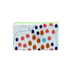 Island Top View Good Plaid Spot Star Cosmetic Bag (xs) by Mariart