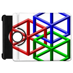 Impossible Cubes Red Green Blue Kindle Fire HD 7  by Mariart