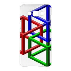 Impossible Cubes Red Green Blue Samsung Galaxy A5 Hardshell Case  by Mariart
