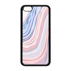 Marble Abstract Texture With Soft Pastels Colors Blue Pink Grey Apple Iphone 5c Seamless Case (black) by Mariart