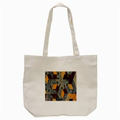 Apophysis Isometric Tessellation Orange Cube Fractal Triangle Tote Bag (cream) by Mariart