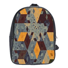 Apophysis Isometric Tessellation Orange Cube Fractal Triangle School Bags(large)  by Mariart