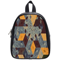 Apophysis Isometric Tessellation Orange Cube Fractal Triangle School Bags (small)  by Mariart