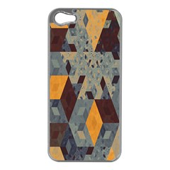 Apophysis Isometric Tessellation Orange Cube Fractal Triangle Apple Iphone 5 Case (silver) by Mariart