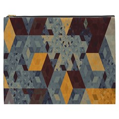 Apophysis Isometric Tessellation Orange Cube Fractal Triangle Cosmetic Bag (xxxl)  by Mariart
