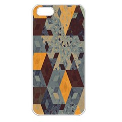 Apophysis Isometric Tessellation Orange Cube Fractal Triangle Apple Iphone 5 Seamless Case (white) by Mariart