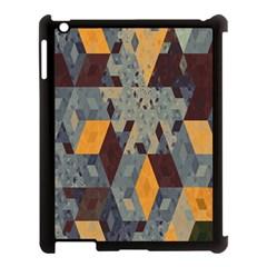 Apophysis Isometric Tessellation Orange Cube Fractal Triangle Apple Ipad 3/4 Case (black) by Mariart