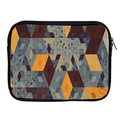 Apophysis Isometric Tessellation Orange Cube Fractal Triangle Apple Ipad 2/3/4 Zipper Cases by Mariart