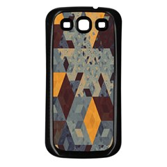 Apophysis Isometric Tessellation Orange Cube Fractal Triangle Samsung Galaxy S3 Back Case (black) by Mariart