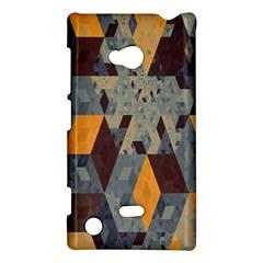 Apophysis Isometric Tessellation Orange Cube Fractal Triangle Nokia Lumia 720 by Mariart