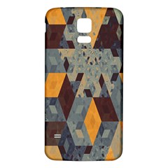 Apophysis Isometric Tessellation Orange Cube Fractal Triangle Samsung Galaxy S5 Back Case (white) by Mariart
