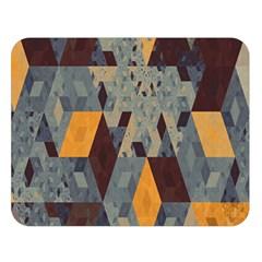 Apophysis Isometric Tessellation Orange Cube Fractal Triangle Double Sided Flano Blanket (large)  by Mariart