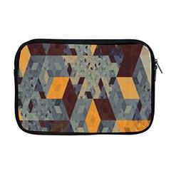 Apophysis Isometric Tessellation Orange Cube Fractal Triangle Apple Macbook Pro 17  Zipper Case by Mariart