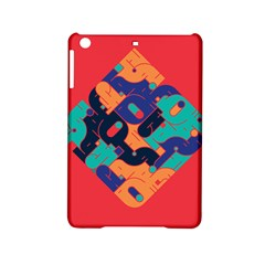 Plaid Red Sign Orange Blue Ipad Mini 2 Hardshell Cases by Mariart