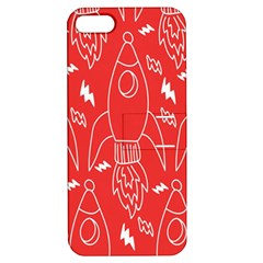 Moon Red Rocket Space Apple Iphone 5 Hardshell Case With Stand by Mariart