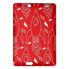 Moon Red Rocket Space Amazon Kindle Fire Hd (2013) Hardshell Case by Mariart