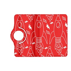 Moon Red Rocket Space Kindle Fire Hd (2013) Flip 360 Case by Mariart