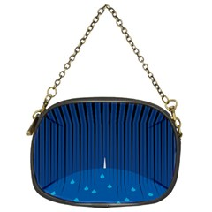 Rain Blue Sky Water Black Line Chain Purses (two Sides)  by Mariart