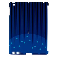 Rain Blue Sky Water Black Line Apple Ipad 3/4 Hardshell Case (compatible With Smart Cover) by Mariart