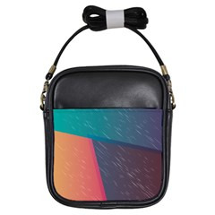 Modern Minimalist Abstract Colorful Vintage Adobe Illustrator Blue Red Orange Pink Purple Rainbow Girls Sling Bags by Mariart