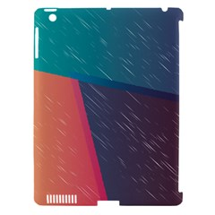 Modern Minimalist Abstract Colorful Vintage Adobe Illustrator Blue Red Orange Pink Purple Rainbow Apple Ipad 3/4 Hardshell Case (compatible With Smart Cover) by Mariart