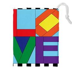 Rainbow Love Drawstring Pouches (xxl) by Mariart
