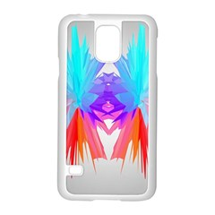 Poly Symmetry Spot Paint Rainbow Samsung Galaxy S5 Case (white) by Mariart