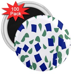 Scatter Geometric Brush Blue Gray 3  Magnets (100 Pack) by Mariart