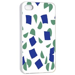 Scatter Geometric Brush Blue Gray Apple Iphone 4/4s Seamless Case (white) by Mariart