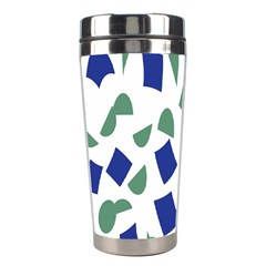 Scatter Geometric Brush Blue Gray Stainless Steel Travel Tumblers by Mariart