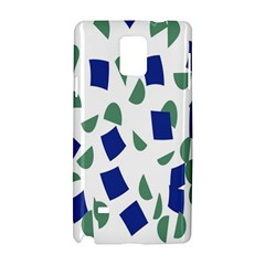 Scatter Geometric Brush Blue Gray Samsung Galaxy Note 4 Hardshell Case by Mariart