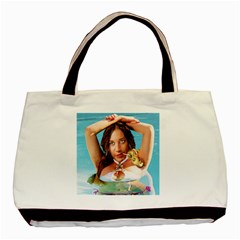 Woman In Pool Basic Tote Bag by RakeClag
