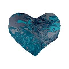 Colors Standard 16  Premium Heart Shape Cushions by Valentinaart