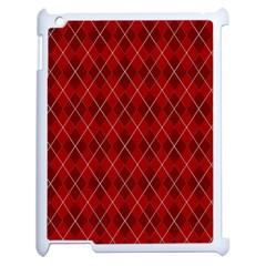 Plaid Pattern Apple Ipad 2 Case (white) by Valentinaart
